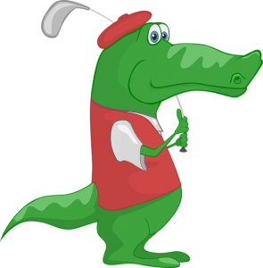 golfer-crocodile